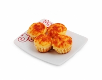 muffins with cheese and yellow cheese